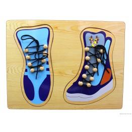 """Пазл-шнуровка """"Обувь"""" (2 ботинка)"""